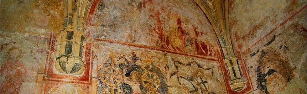 Les peintures de la Chapelle du Cheylard menacées de disparition